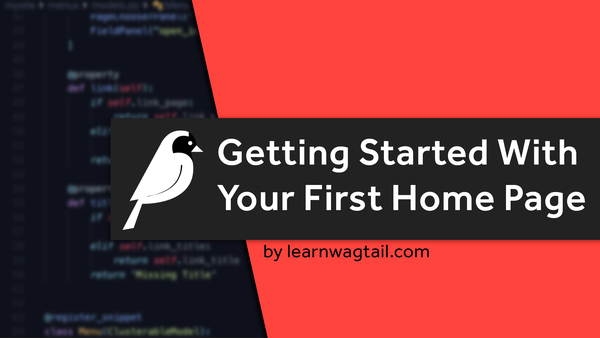 Getting Started With Your First Home Page video image
