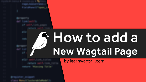 How to Add a New Wagtail Page From Scratch video image