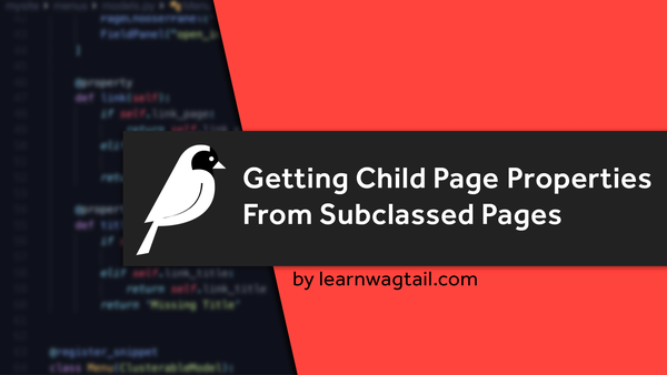 Getting Child Page Properties From a Subclassed Page video image