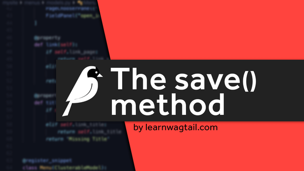Using Wagtails save() method to remove template caching video image