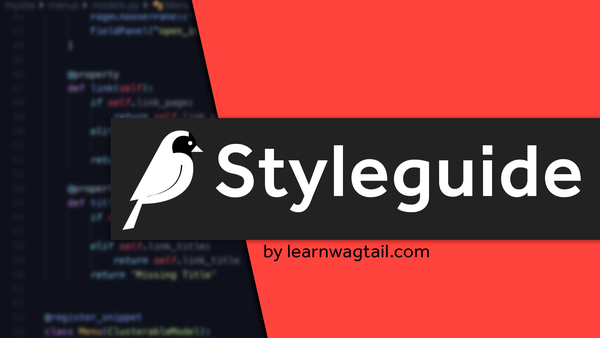 Enabling Wagtails Styleguide video image