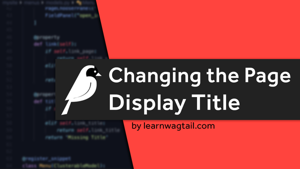 Changing the Page Display Title video image