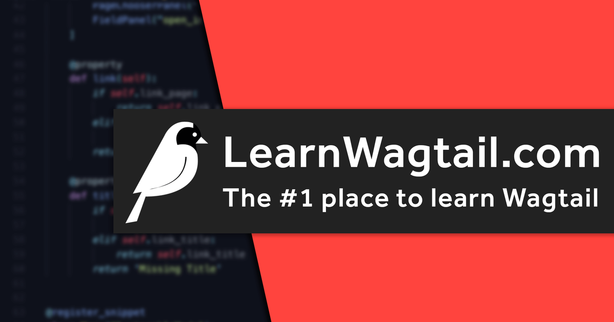 Learn Wagtail From Scratch